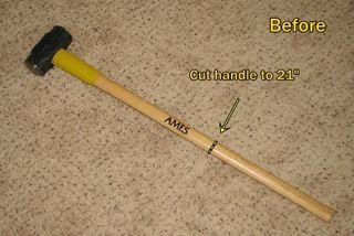 Hammer before