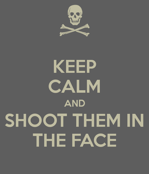 Keep Calm and Shoot Them In The Face
